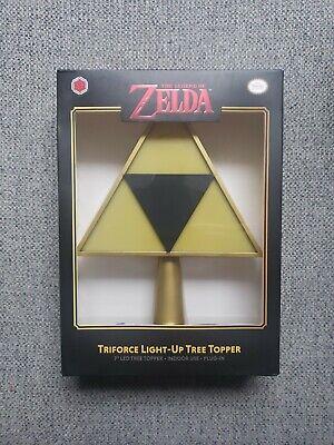 The Legend Of Zelda Triforce Plug In Light Up Nintendo Christmas Tree Topper New