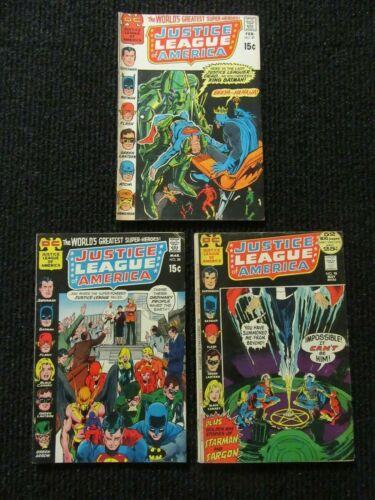 Justice League Of America #87, #88 & #98  Nice Copies!!