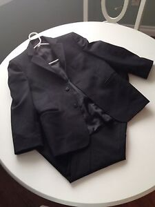 Youth Boys Black Suit Robert Allan Size 14