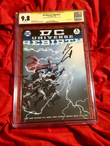 CGC SS 9.8~REBIRTH SPECIAL #1~1st~SIGNED WONDER WOMAN GAL GADOT+HENRY CAVILL