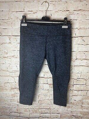 Zella Womens Heathered Cropped Yoga Pants Dark Charcoal Gray Medium