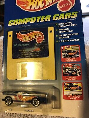 "Hot Wheels 93 Camaro "" Computer Cars""blue/ Graphics"