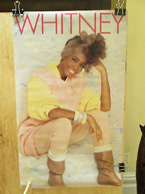 WHITNEY HOUSTON - Whitney - 13.25 x 22 inches    Rare 1985 promo POSTER