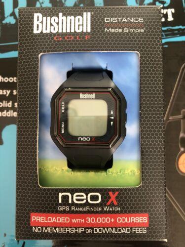 Bushnell NEO-X Golf GPS Rangefinder Watch, Black