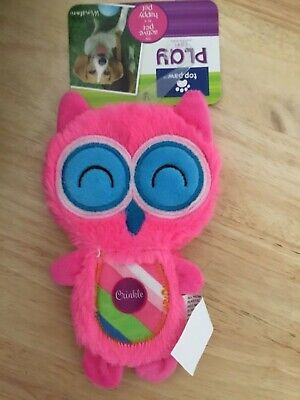 Dog toy,Top Paw Flattie Owl, Crinkle,Plush Toys great gift for your best (Best Gifts Top Toys)