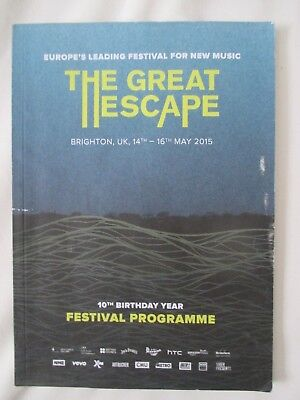 The Great Escape Brighton Festival Programme 10th Birthday Year 2015