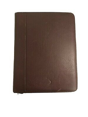 Franklin Quest Planner Top Grain Verona Leather -classic Size-7 Ring -dark Brown