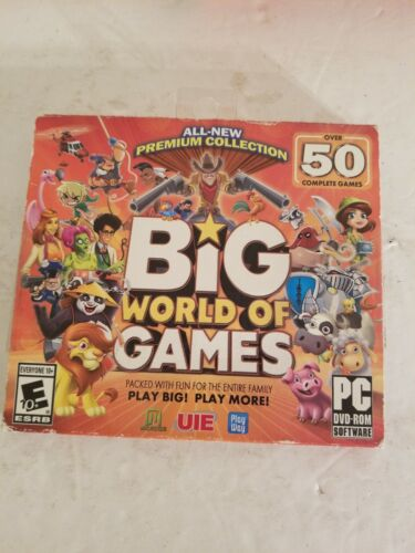BIG WORLD OF GAMES PREMIUM COLLECTION 50 COMPLETE GAMES (PC DVD 2014)