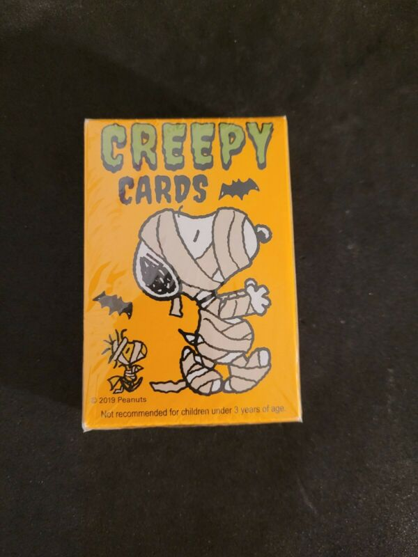 Snoopy Peanuts Halloween Creepy Playing Cards Deck Of 52 NEW