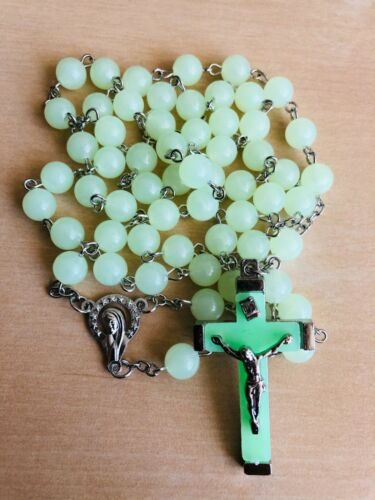 Glow in the dark Rosary Necklace Catholic Religious Rosary FAST SHIPPING