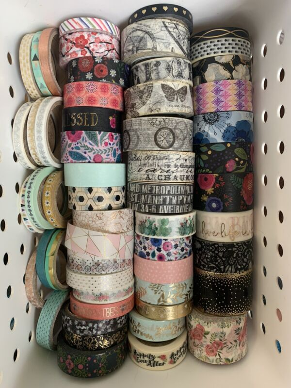 Washi Tape collection Destash Lot Of 90 Rolls New And Used