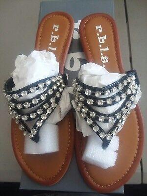 Rbls Women's Abba Dress Sandal black size 6 NIB