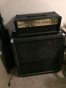 Marshall head and Bugera cab