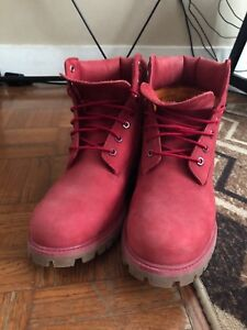 """Limited release 6"""" Red timberlands"""