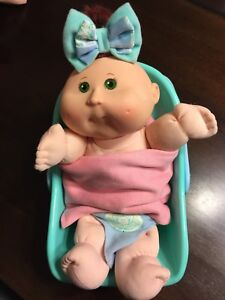 Baby Cabbage Patch Kid in carrier