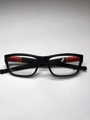 OAKLEY OX8034-0951 BLACK FERRARI RED EYEGLASSES 51mm NEW