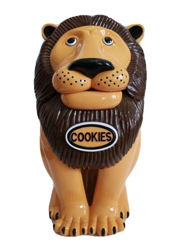 "EUC Vintage 1999 The Original Talking Roaring Lion Tiger Cookie Jar 11"" Plastic"