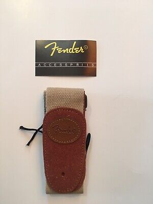 Fender Classic Electric Guitar Bass Strap Tan