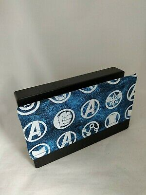 Nintendo Switch Dock Cover - Dock Sock- Screen Protector - Marvel Avengers Blue