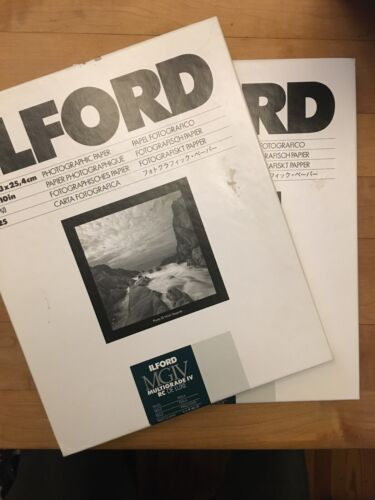Ilford MGIV 8x10 photographic paper, 2 packs