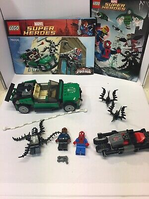 LEGO 76004 Marvel Super Heroes Spider-Man SpiderCycle Chase 100% Complete No Box