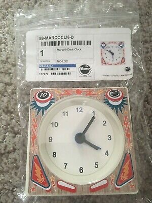 PINBALL MACHINE DESK CLOCK WILLIAMS BALLY GOTTLIEB