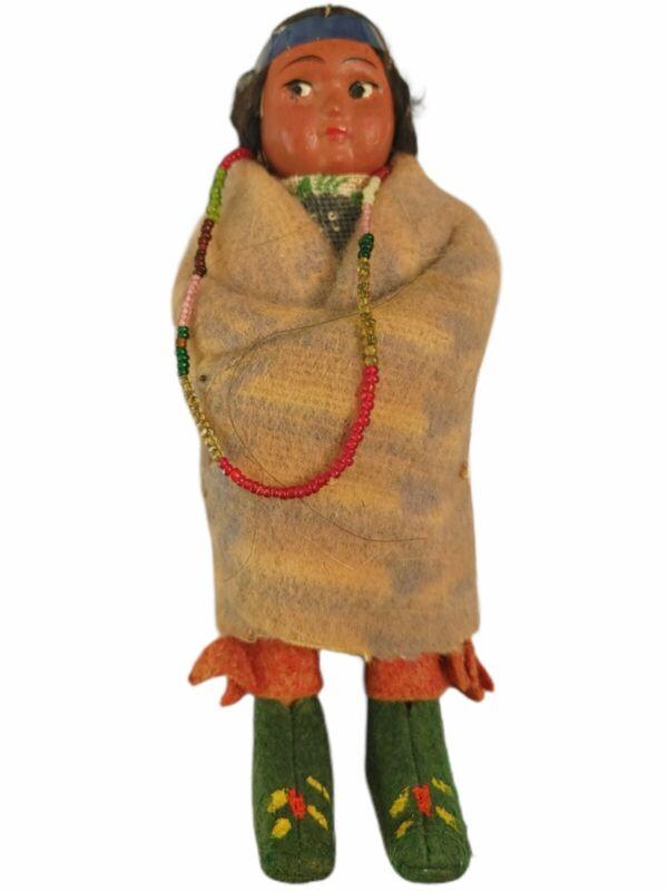 Antique Skookum Indian Doll- Native American