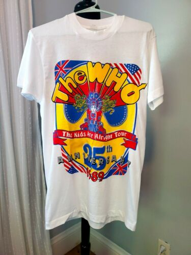 Vintage The WHO Rockband 1989 25th Anniversery Tour T-Shirt Medium NWOT