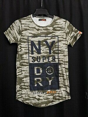 Superdry NY Surplus Goods Camo Graphic T Shirt Small