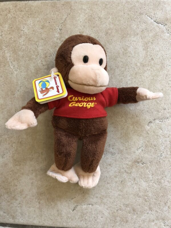 """Curious George plush Russ toys 6"""" stuffed animal monkey collectible toy"""