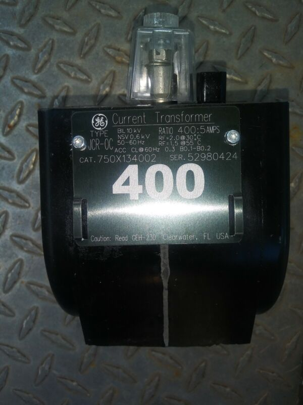 GE GENERAL ELECTRIC Type JCR-OC 750X134002 400:5 Ratio Amps  Current Transformer