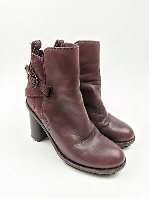 Acne Studios Purple Leather Ankle Booties Boots Sz 38 EU 7.5 US