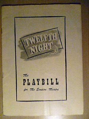 1949 PlayBill Empir Theatre Programme: TWELFTH NIGHT 3rd October