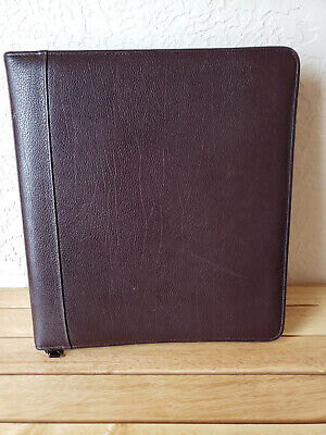 Franklin Covey 7-ring Binder Verona Leather Usa Brown 12100.056 13x12 1 34
