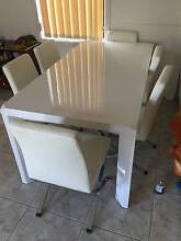 Dinning table + Leather Steel frame chairs (Brand New) Punchbowl Launceston Area Preview