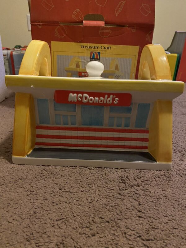 Mcdonalds 1997 Dinner Restaurant Cookie Jar