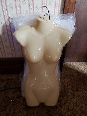 Flesh Woman Torso Mannequin Form Hard Plastic Female Display For Hanging