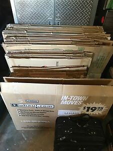 3 bedroom moving box set with some paper