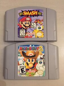 Mario Party 2 And Super Smash Bros N64 Mint