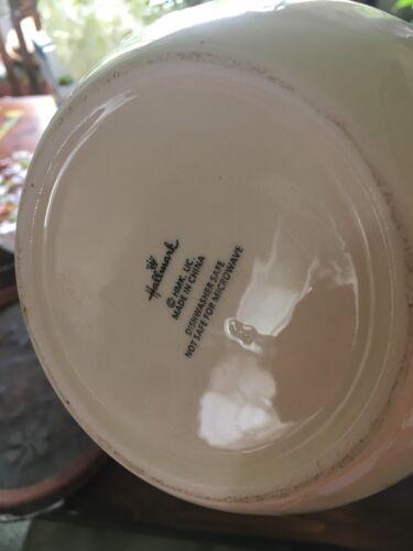 Hallmark Christmas Decorative Canister Cookie Jar Hanging Mittens Ceramic