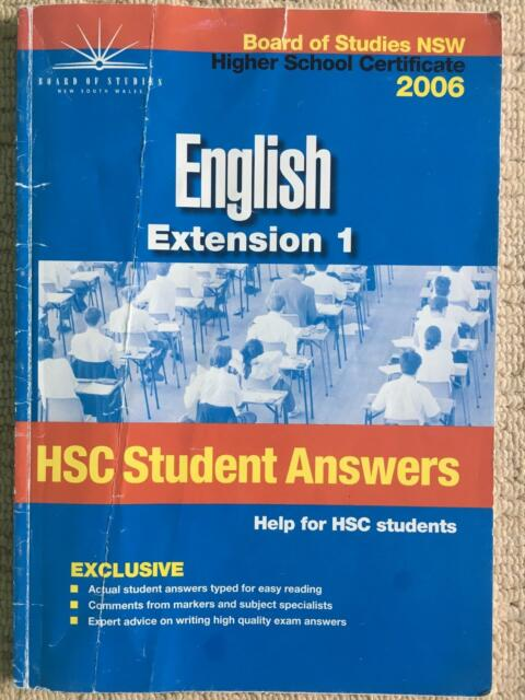 Hsc extension 1 English student answers book | Textbooks