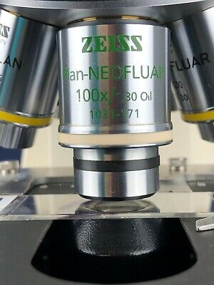 Zeiss Plan Neofluar 100x1.30 Oil 0.17 Ph3 Phase Microscope Objective 105