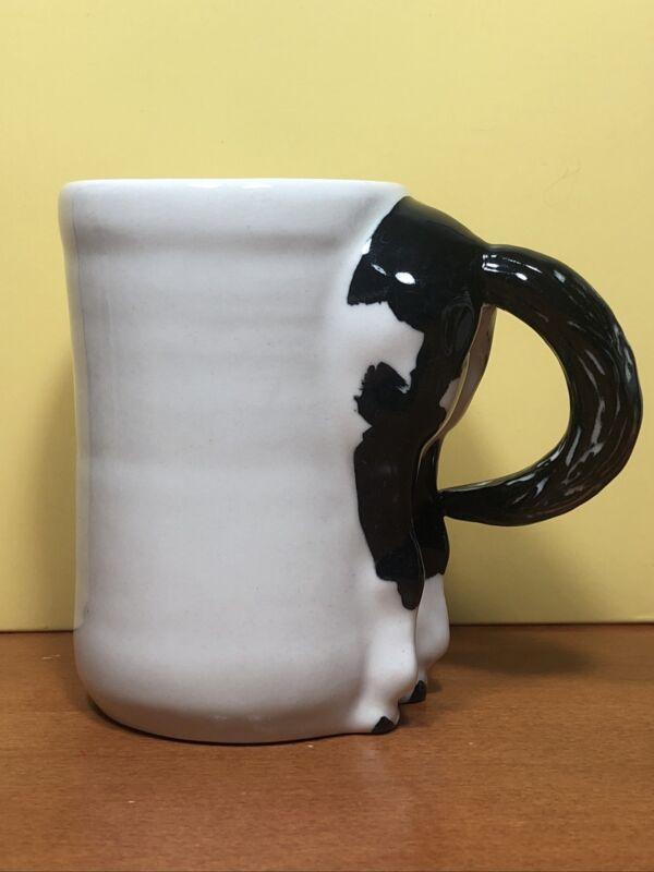 VTG 1993 Happy Appy Valley Studio New Waterford Ohio Horse Butt Mug White Black