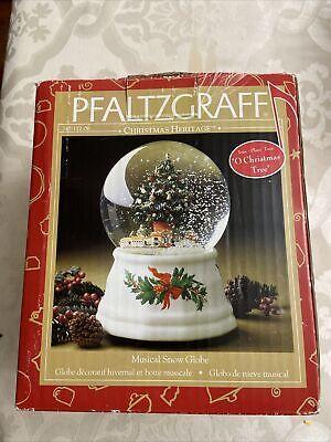 """VTG ! PFALTZGRAFF Christmas Heritage Musical Snow Globe """"O Christmas Tree"""" (NOB)"""