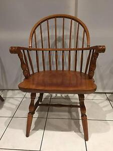 Unique Antique Hand made Windsor Spindle Carver armchair colonial Watsonia Banyule Area Preview