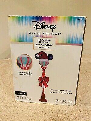 Disney Mickey Mouse Magic Holiday Lamp Post LED Lights 5 Feet Christmas