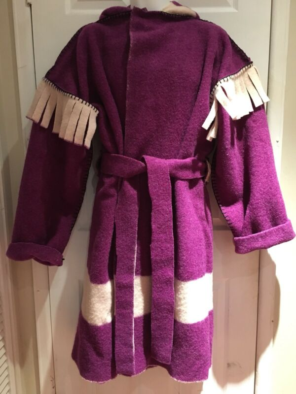XL HUDSON BAY WOOL CORONATION BLANKET CAPOTE COAT JACKET HUDSON