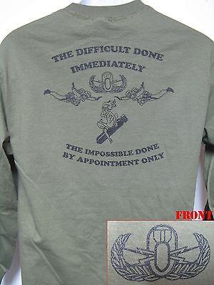 BASIC EOD LONG SLEEVE T-SHIRT/ no text/ MILITARY/ POLICE/ BOMB SQUAD/ NEW Bomb Long Sleeve T-shirt