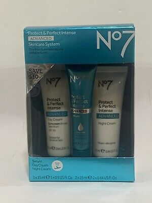 Boots No7 Protect & Perfect Advanced Skincare System 3pcs Serum Day & Night