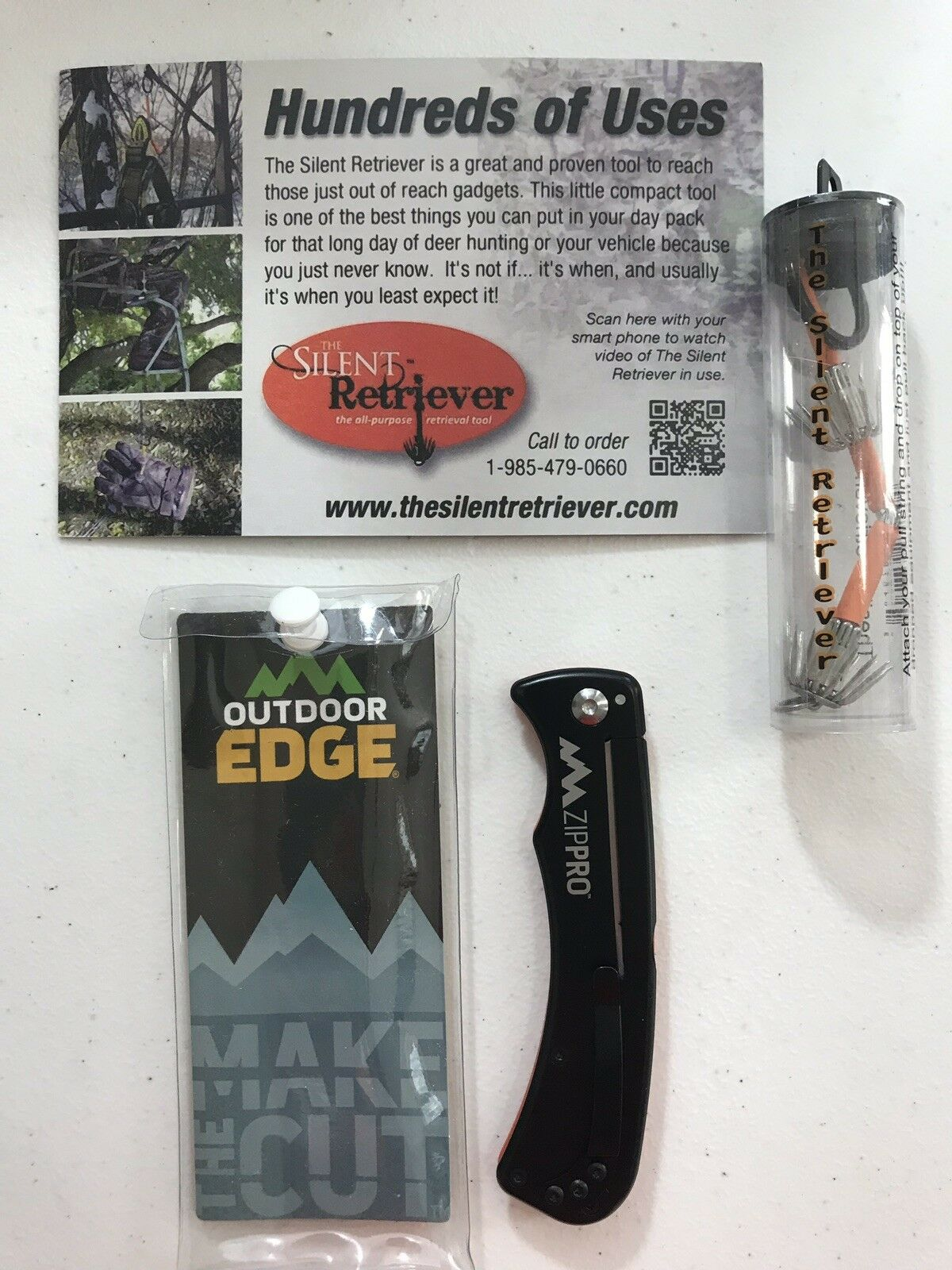 Outdoor Edge Zip Pro Folding Gutting Knife W/ The Silent Ret